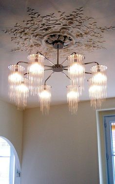 Contemporary chandelier / glass GS Tom Kirk Lighting