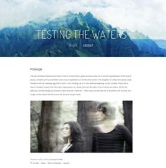 Testing the Waters [Squarespace template] by Krystyn Heide