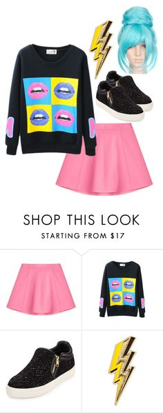 """""""She's A Zinger"""" by twistedvine ❤ liked on Polyvore featuring RED Valentino, Ash, Anya Hindmarch, women's clothing, women, female, woman, misses, juniors and bright"""