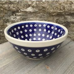 Polish Pottery Frogeye Cereal bowl by Boleslawiec