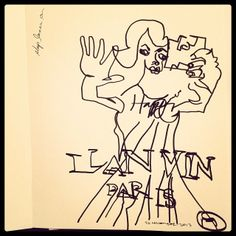 #30days30drawings - Day 26 #Lanvin #fall2013 ad campaign with #EdieCampbell #lartbrut #blindcontour #illustration #fashion  © 2013 Belle Brut
