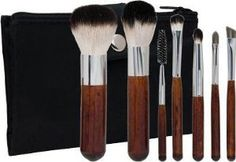 Morphe 602 Badger 7-piece Makeup Brush Set by Morphe. $25.90. Fits perfectly in your purse for when you are on the go Storage pouch allows you to take along your favorite cosmetic products Sized to slip easily into your purse or briefcase 7-piece pro set with matching designer case. Zippered side pocket     Case constructed of faux leather. Case dimensions: 5 inches long x 4 inches wide x 1 inch deep Snap closure. Name: Set 602 Brand: Morphe Number of pieces: 7 Brus...