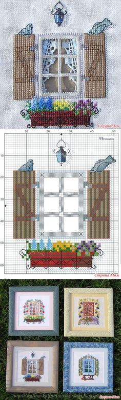 "Pinkip ""spring box"" (Hardanger) - Biskornyu and other ""Krivul'ko"" - Country Mom Cross Stitch House, Cross Stitch Needles, Cross Stitch Charts, Cross Stitch Designs, Cross Stitch Patterns, Hardanger Embroidery, Embroidery Applique, Cross Stitch Embroidery, Embroidery Patterns"