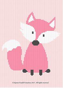Crochet Patterns - FOX Woodland Baby GIRL Afghan Pattern *EASY   eBay