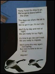 Migration chant we used with our Migrating V formation geese project.