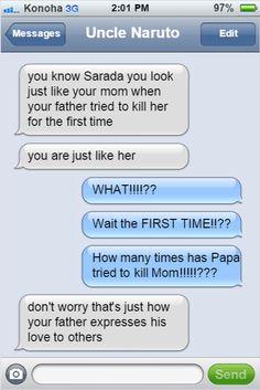 <3 Naruto & Sareda - by textingninjasofkonoha, tumblr
