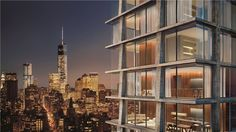 Herzog & de Meuron and John Pawson have teamed up to design the exterior and interior of a luxury Manhattan hotel and apartment block for New York developer Ian Schrager. John Pawson, Manhattan Real Estate, Manhattan Hotels, Lower Manhattan, Lower East Side, Tadao Ando, Jacques Herzog, Ian Schrager, New York Projects