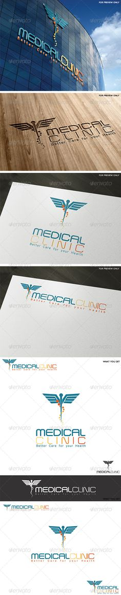 Medical Clinic Logo Template #GraphicRiver A logo design that can easily fit to any medical services, hospitals, clinics, medical emergencies. • Fully vector • Easy to edit text (link to free fonts included in help file) • CMYK at 300DPI • AI and EPS files should you need any further assistance, don't hesitate to contact me. Please take a moment to rate this item (: My Logo Designs Created: 25February12 GraphicsFilesIncluded: