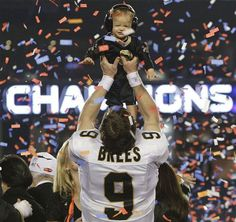 Super Bowl XLIV- Drew and Baylen Brees