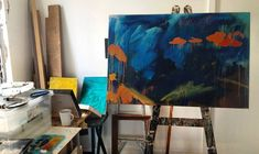 My painting process starts for this large landscape painting. Painting Process, Landscape Paintings, Night, Artwork, Idea Paint, Work Of Art, Auguste Rodin Artwork, Landscape, Artworks