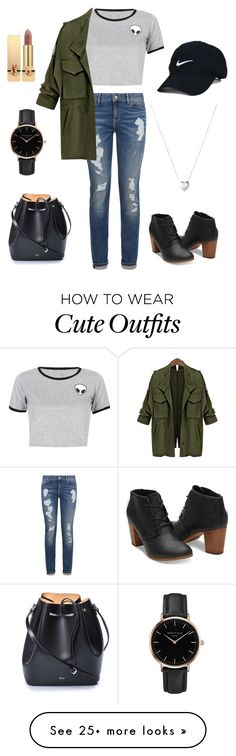 """""""cute outfit"""" by noagal on Polyvore featuring WithChic, Tommy Hilfiger, N°21, Nike Golf, Topshop, Yves Saint Laurent and Links of London"""