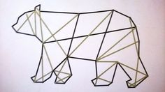 Washitape bear geometric design
