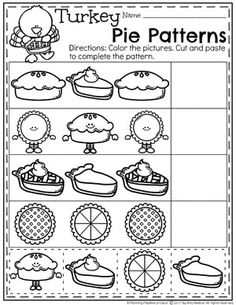 Superstars Which Are Helping Individuals Overseas Pie Patterns Worksheet - Thanksgiving Preschool Worksheets Thanksgiving Worksheets, Thanksgiving Preschool, Fall Preschool, Preschool At Home, Preschool Curriculum, Preschool Printables, Preschool Lessons, Preschool Learning, Kindergarten Worksheets