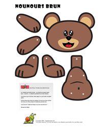 Beren knutselen, kleuters / Découpages Animaux pour enfants