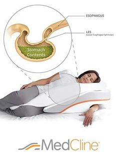 What do you get if you combine the best sleeping position (the left side) and add an incline? The MedCline Acid Reflux/GERD Pillow System. What Causes Acid Reflux, Stop Acid Reflux, How To Treat Heartburn, Home Remedies For Heartburn, Heartburn Relief, Gerd Symptoms, Reflux Symptoms, Natural Remedies For Migraines, Shopping