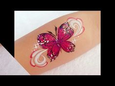 Face Painting Tutorial - Butterfly Demonstration using Split Cake - YouTube