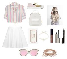 """""""Cute outfit #2"""" by fashion-tips2005 on Polyvore featuring Solid & Striped, Alice + Olivia, Fendi, Design Lab, Versace, Smith & Cult, Ilia, tarte, Missguided and Marjana von Berlepsch"""