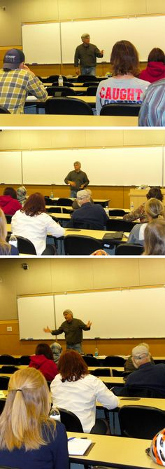[Throwback Thursday] Terry Persun leads a class in Character Development, October 2013.