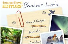 Travel Bucket Lists - Where in the world will you go?
