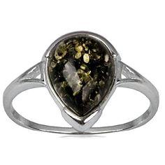 Amber by Graciana Damen Ring Länglich 925 Sterlingsilber Bernsteine Grün 40572 Amber by Graciana http://www.amazon.de/dp/B008YKRJ48/ref=cm_sw_r_pi_dp_YXTovb1F0A3BY