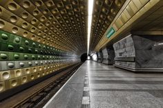Malostranská Metro station in Prague, Czech Republic