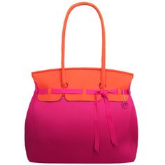 The Skimp purse in pink and orange.