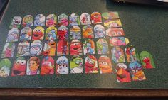 Sesame Street Elmo and Friends 1 inch wide tags by amylaugh, $3.95