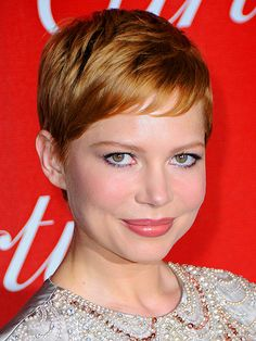 Loving this strawberry blonde color on her! It really makes her eyes stand out & I still love that she's rocking the Pixie cut! #haircolors