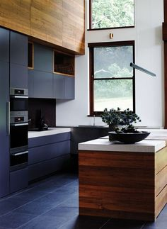 mix both matte and natural surfaces to give your kitchen a unique modern feel www