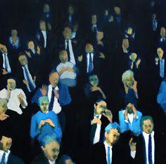 Gema Quiles. 'Individuos'. Óleo sobre tabla. 36x36cm. 2015.