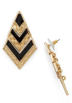 Black and Gold art deco earring for NYE 2014