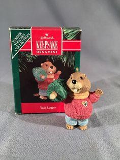 Hallmark Keepsake Ornament 1991- Yule Logger | Collectibles, Decorative Collectibles, Decorative Collectible Brands | eBay!