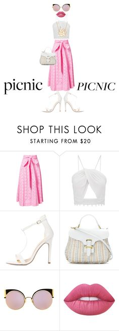 """Picnic Date Outfit"" by ms-fame ❤ liked on Polyvore featuring Lisa Marie Fernandez, Serpui, Fendi, Lime Crime and Lord & Taylor"