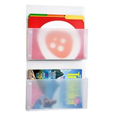 Wall Pockets from Container Store - I have these hanging in my office.  It's a great place to put the mail if you don't have time to address it right away.