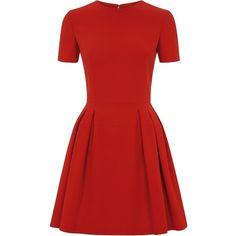 Alexander McQueen Leaf Crepe Pleated Peplum Mini Dress