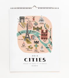WANT! Rifle Paper Co. 2013 Cities Calendar