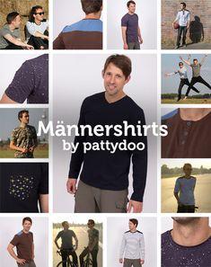 Endlich nähen für Männer! Mit der Nähanleitung kannst du das Shirt oder Longsleeve mit Knopleiste oder einer Passe einfach selber nähen.