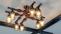 Steampunk Lamp Chandelier Lamp Steampunk art by SteampunkLoftCraft