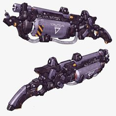 Weapon design from EXTEEL the fast paced sci-fi MMO art Sci Fi Weapons, Weapon Concept Art, Weapons Guns, Fantasy Weapons, Game Concept Art, Prop Design, Game Design, Level Design, Future Weapons