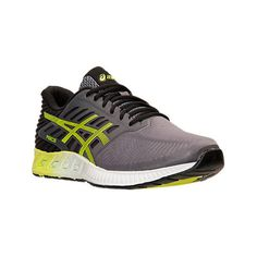 Asics Men's FuzeX Running Shoes ($110) ❤ liked on Polyvore featuring men's fashion, men's shoes, men's athletic shoes, grey, mens gray dress shoes, mens mesh shoes, asics mens shoes and mens grey shoes
