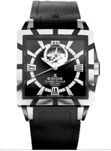 Edox Classe Royale Open Heart Automatic Men' s Watch # 85007.357N.NIN