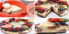 De verdad quedo increíble delicioso el cheesecake MARMOLADO de Chocolate blanco y negro… | Receitas Soberanas