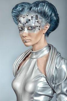 futuristic silver makeup - Google Search