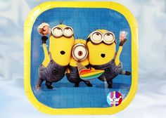 eFantasyMx: Minions, platos desechables grandes, 6 pzs - Kichink Minions, Lunch Box, Disposable Tableware, Crates, The Minions, Bento Box