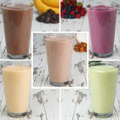 Healthy Smoothies Recipe These Protein Smoothies Are Far From Boring, Protein-pack your mornings with these protein smoothies 5 ways! - Protein-pack your mornings with these protein smoothies 5 ways! Smoothie Proteine, Banana Protein Smoothie, Protein Smoothie Recipes, Healthy Smoothies, Healthy Drinks, Healthy Snacks, Protein Pack, Simple Smoothies, Protein Powder Smoothies
