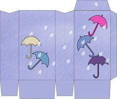 Cajita con paraguas.