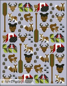 Forest Friends quilt pattern - Coming Soon!