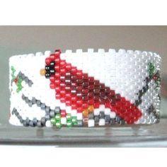 Cardinal Tea Light Cover / Napkin Ring | Bead-Patterns