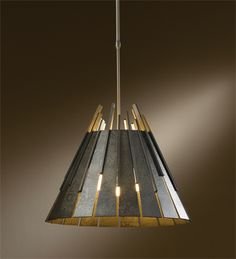 "138901-07-G45 Hubbardton Forge 14.4"" h x 18.2""dia.  1 100w. shown in dark smoke finish (07) Possibly for break room"