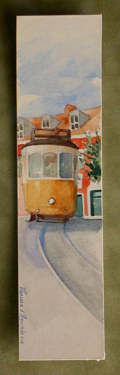 Watercolour on card 22x5,5cm